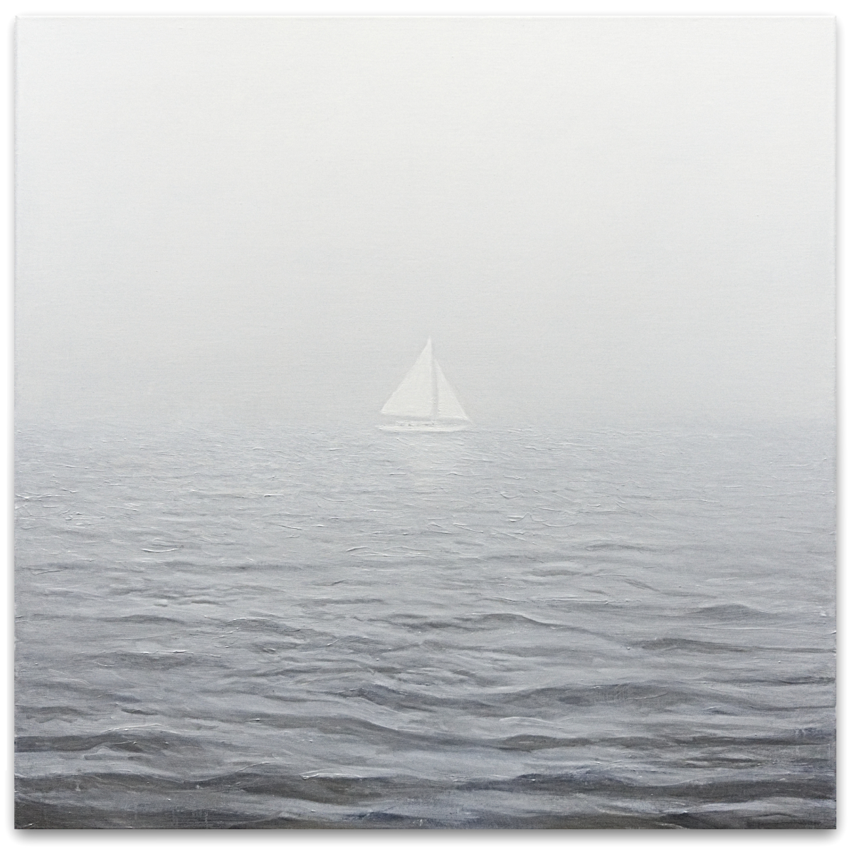 The Self at Sea, 2019, oil on linen, 120 x 120cm