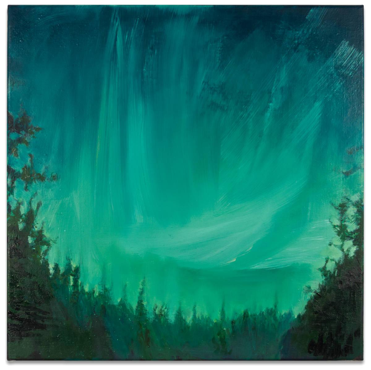 Enlightened — After the sky fell, 2020, oil on linen, 65 x 65cm